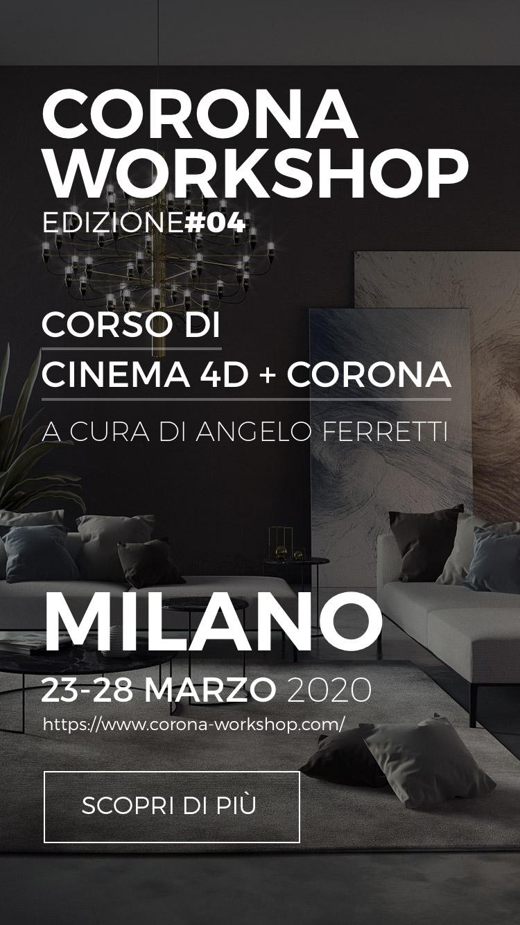 Corso di Cinema 4D e Corona a cura di Angelo Ferretti