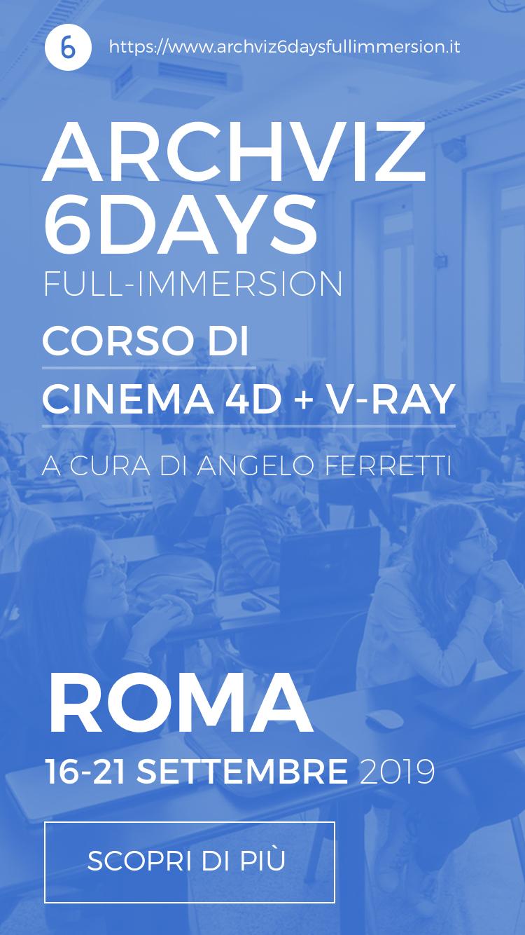 Corso di Cinema 4D e V-RAY a cura di Angelo Ferretti
