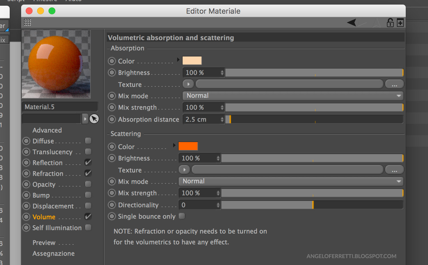 Tutorial materiali Corona Renderer per Cinema 4D