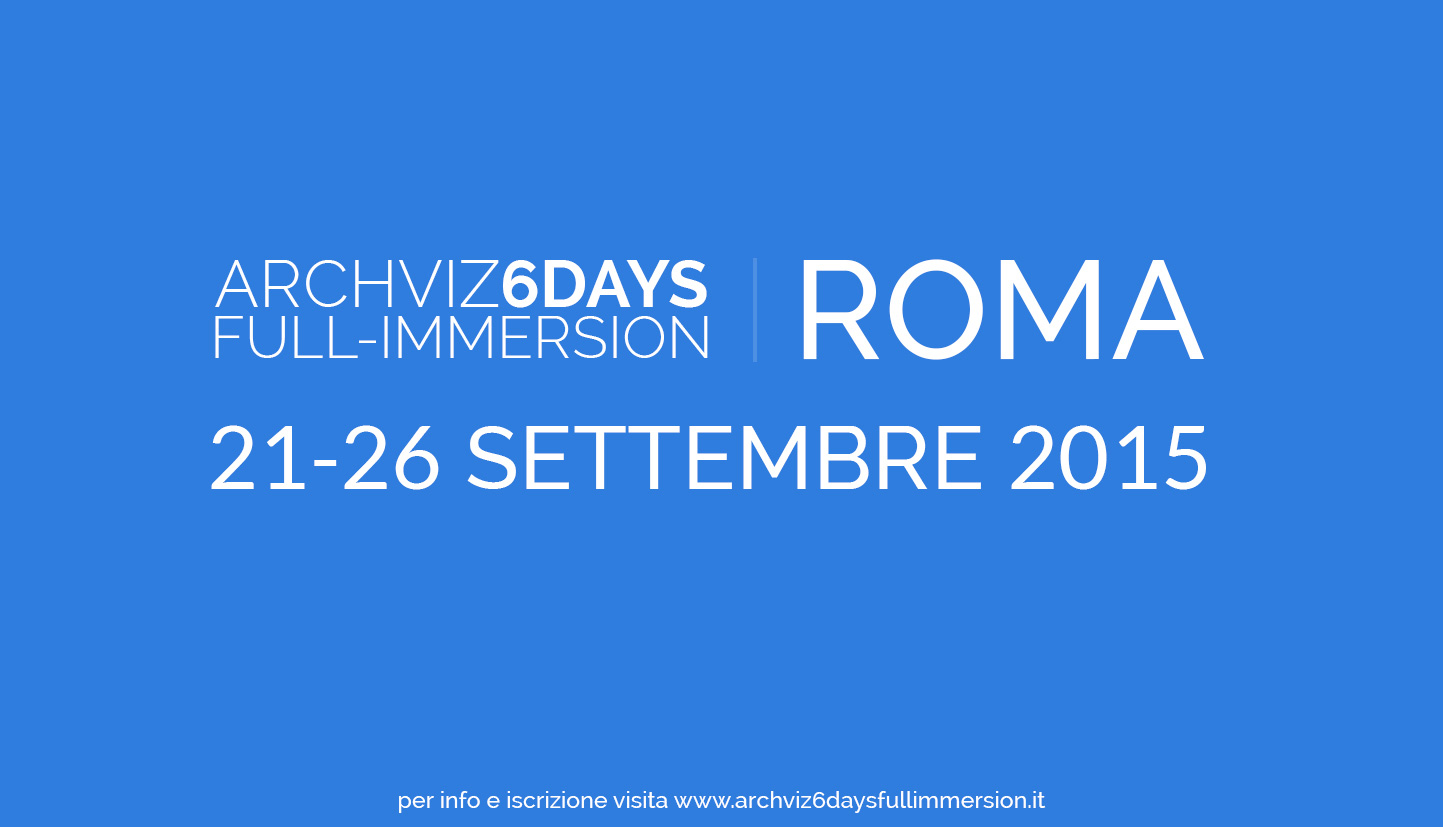 Corso di Cinema 4D e Vray a ROMA - dal 21 al 26 settembre 2015