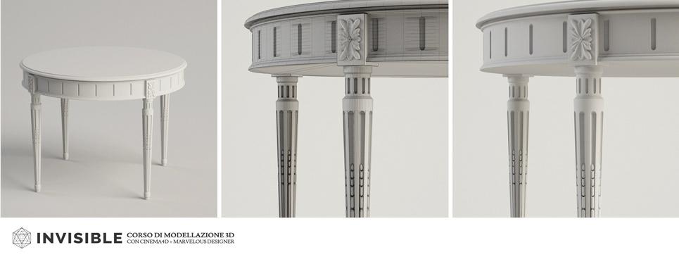 corso di modellazione 3D avanzata per l'architettura classica con Cinema 4D