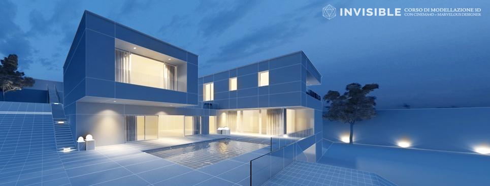 corso di modellazione 3D avanzata per l'architettura con Cinema 4D