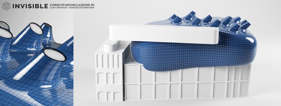 corso di modellazione 3D organica con Cinema 4D